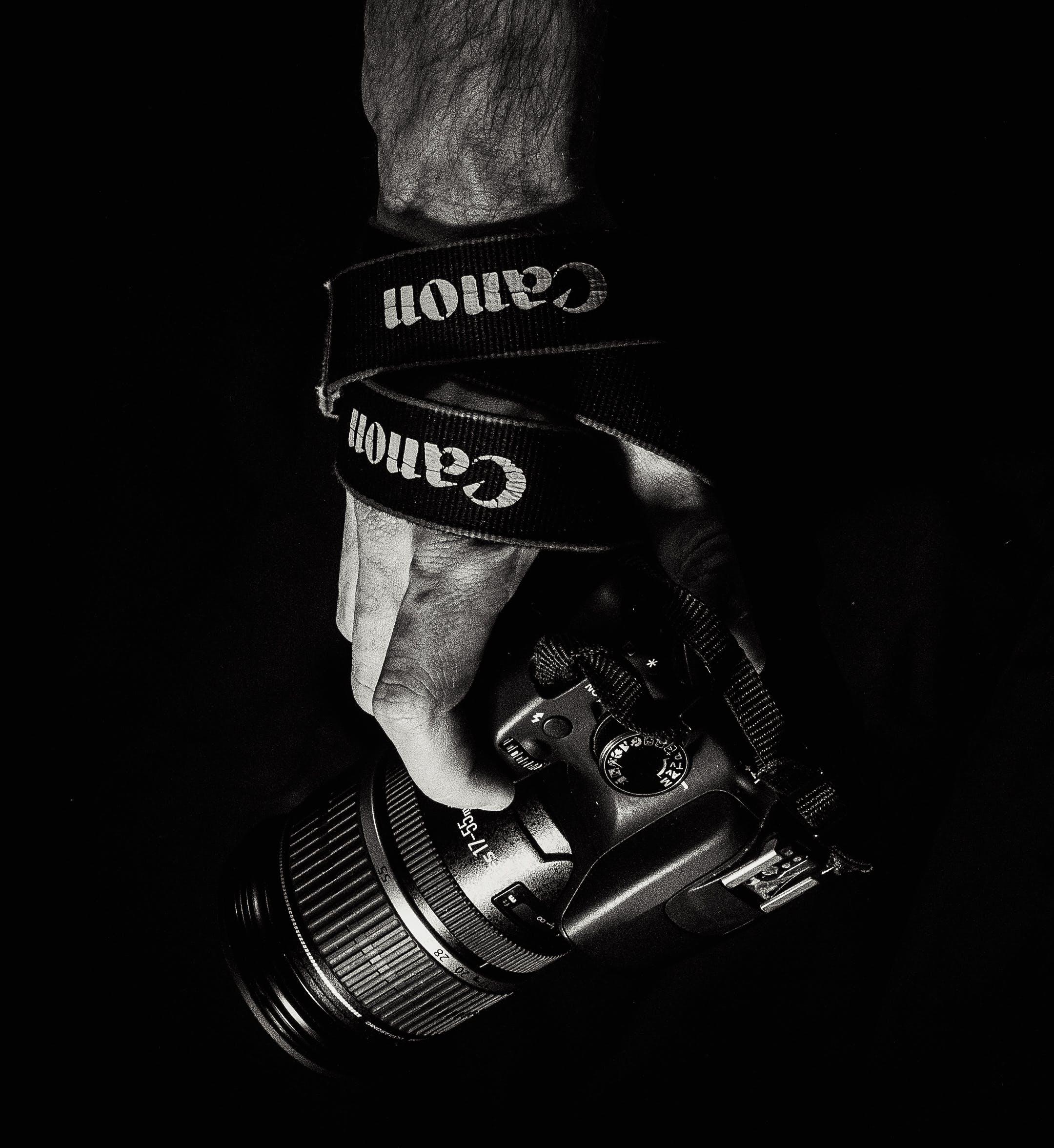 Free stock photo of black, black and white, black&white, camera lens