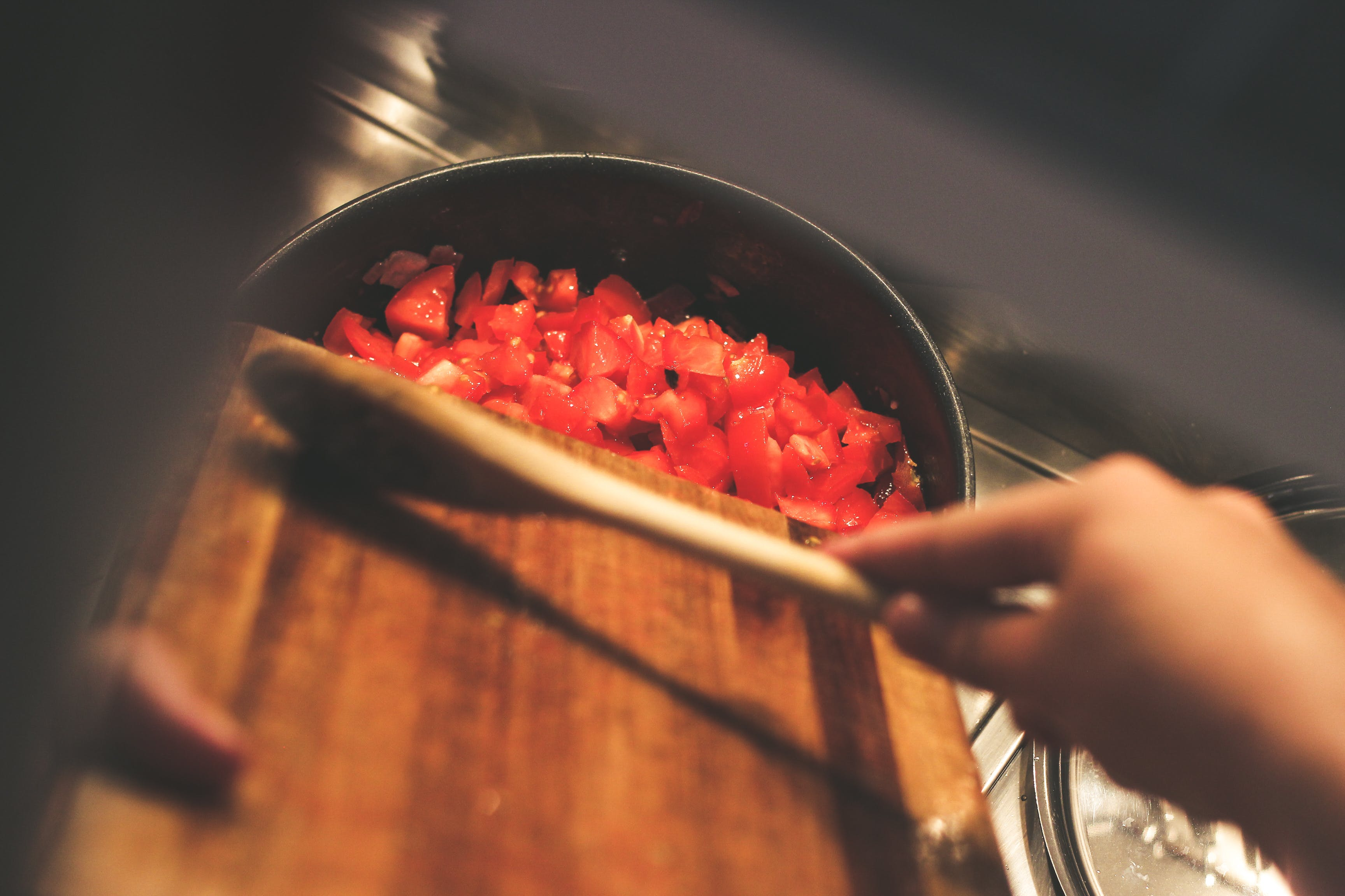 Free stock photo of food, tomatoes, cooking, preparation