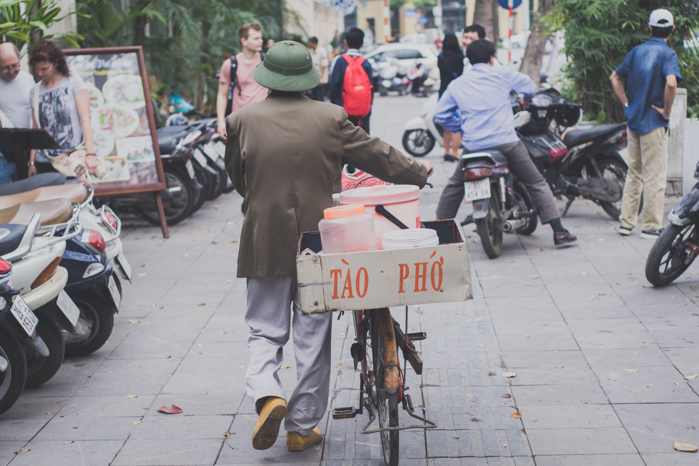велосипед, город, дорога