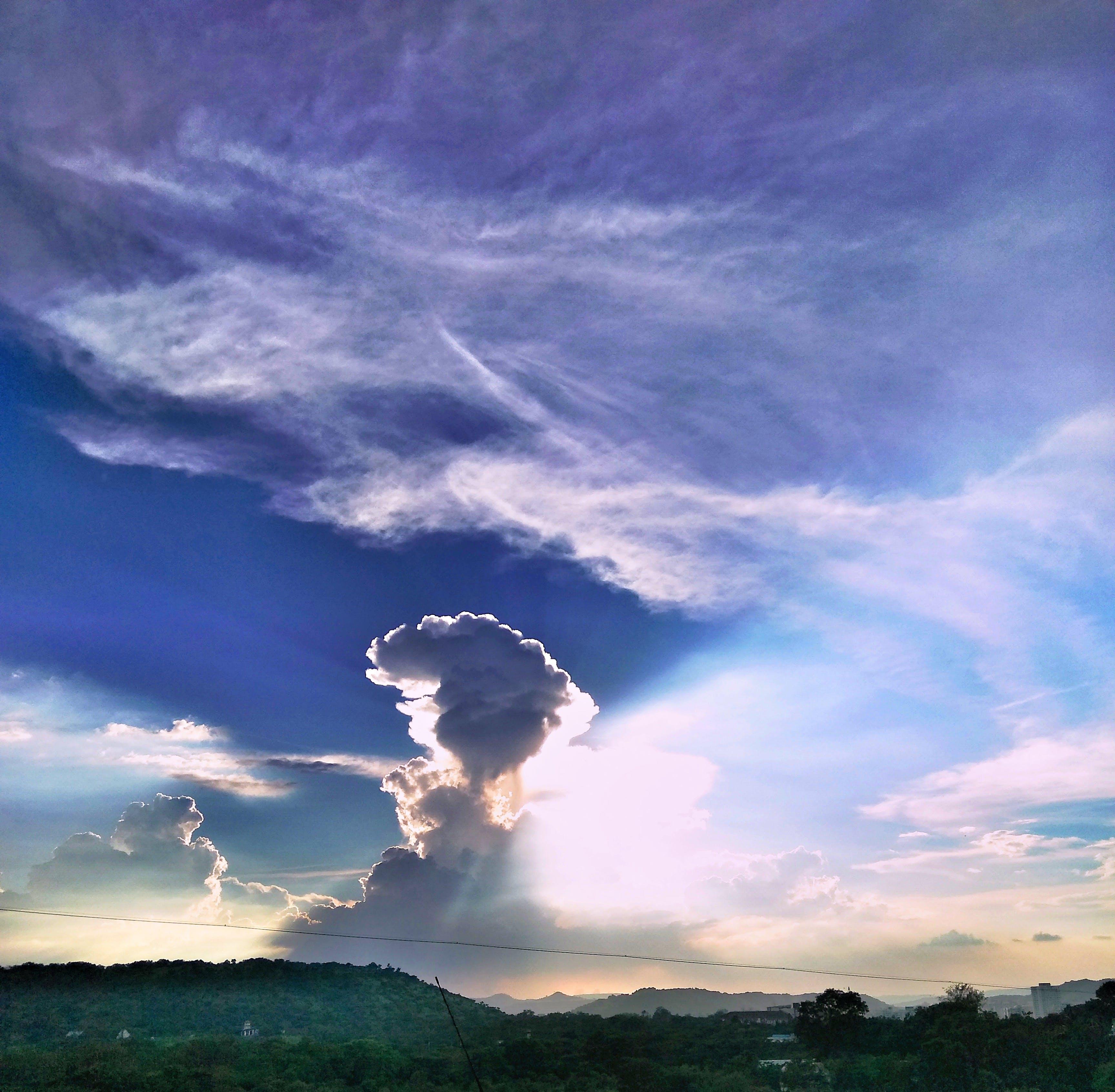 bulut görünümü, bulutlar, doğa, gökyüzü içeren Ücretsiz stok fotoğraf