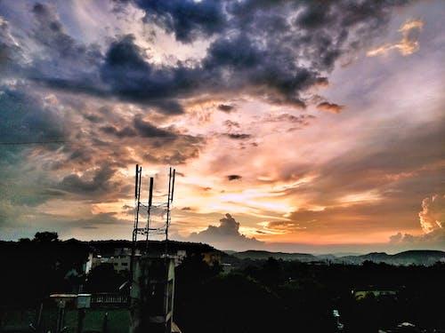 오렌지, 태양, 하늘의 무료 스톡 사진