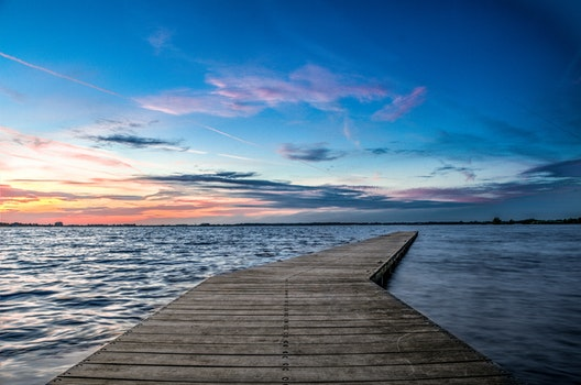 Free stock photo of jetty, landing stage, sky, lake