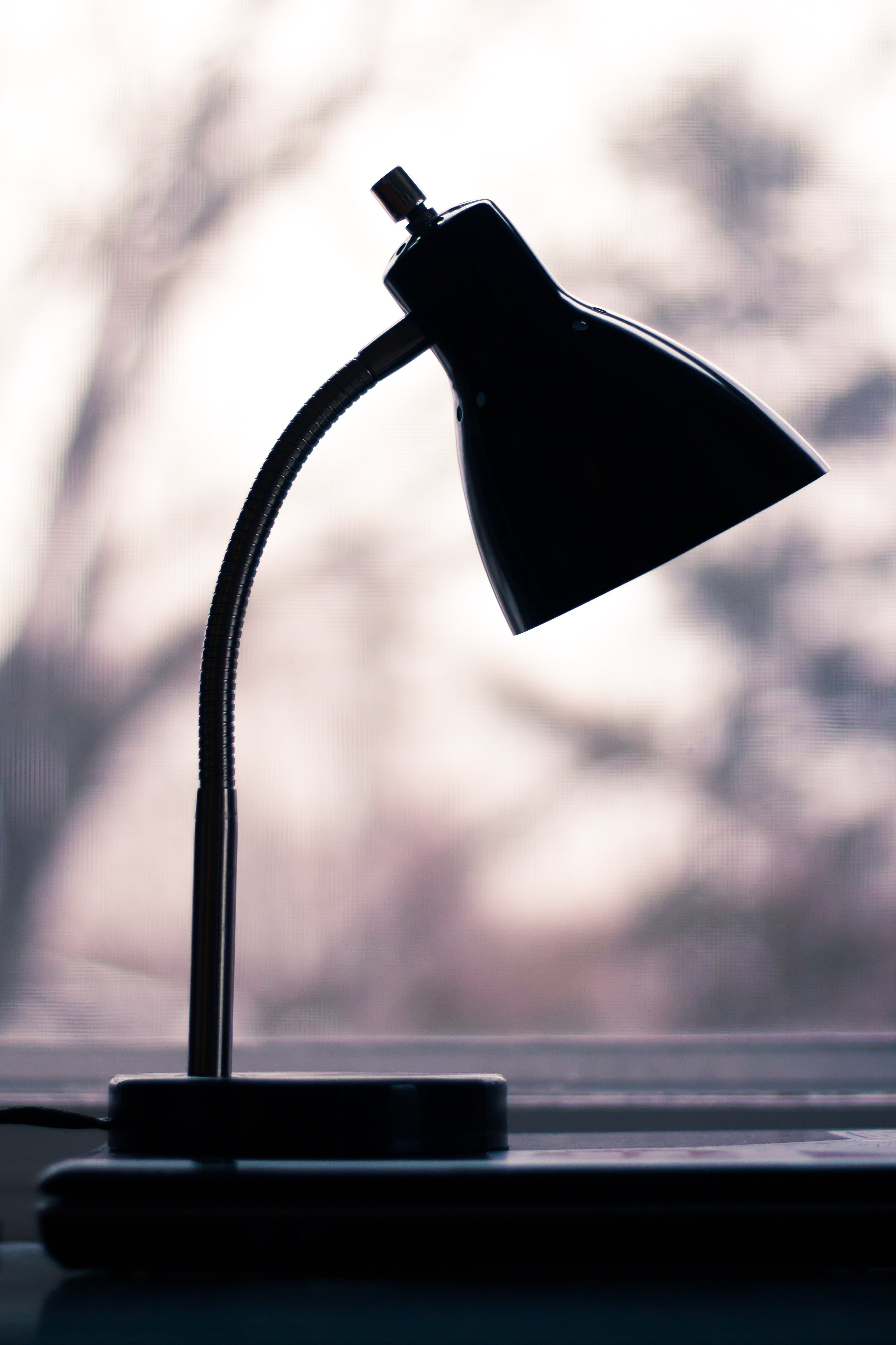 Silhouette of Black Desk Lamp