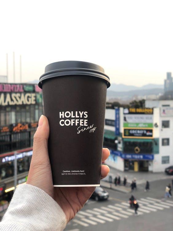 cafè, hivern, hollycoffee