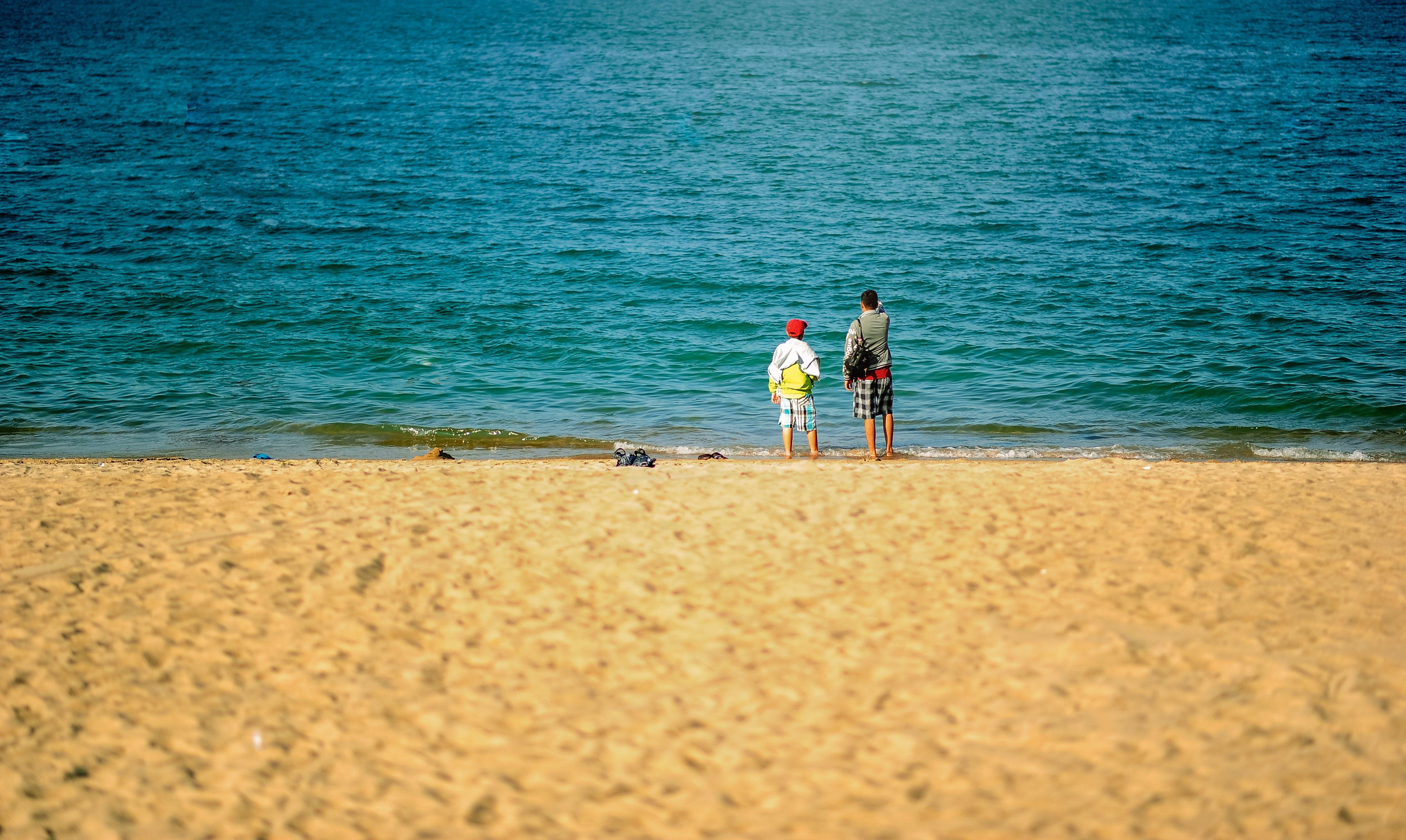 คลังภาพถ่ายฟรี ของ การพักผ่อนหย่อนใจ, คลื่น, ชายทะเล, ชายหาด