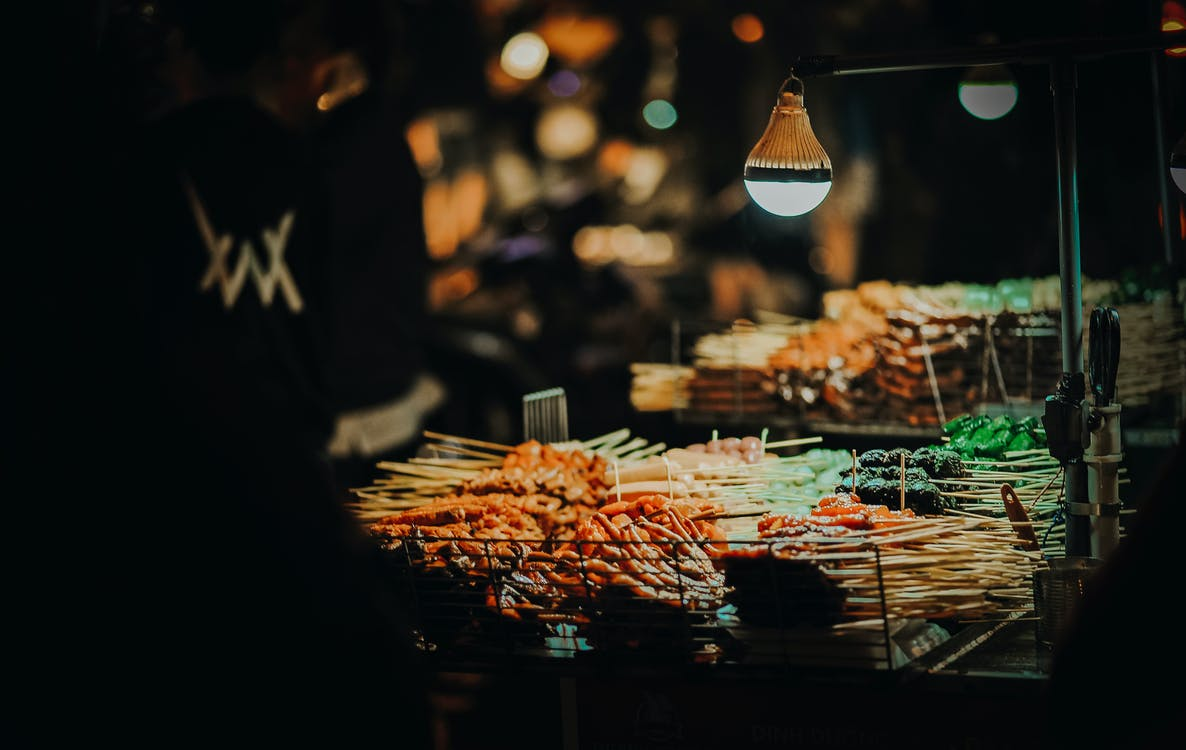 Skewered Meats on Grill