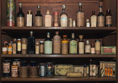Foto stok gratis botol kecil, Kuba, lemari apoteker, matanza