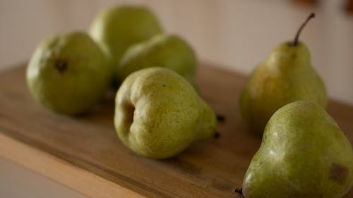 Free stock photo of food, pears, wooden board