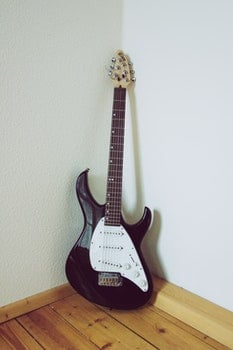 Black and White Electric Guitar