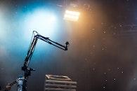 lights, music, stage