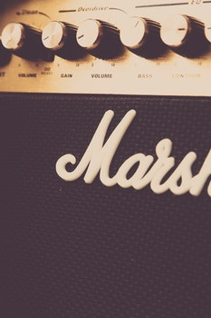 Close Up of Marshall Amplifier