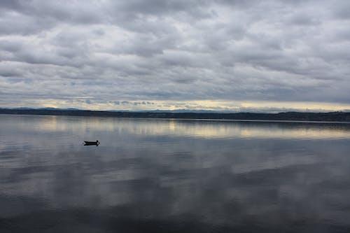 Imagine de stoc gratuită din barcă, nori, ocean, sunet puget