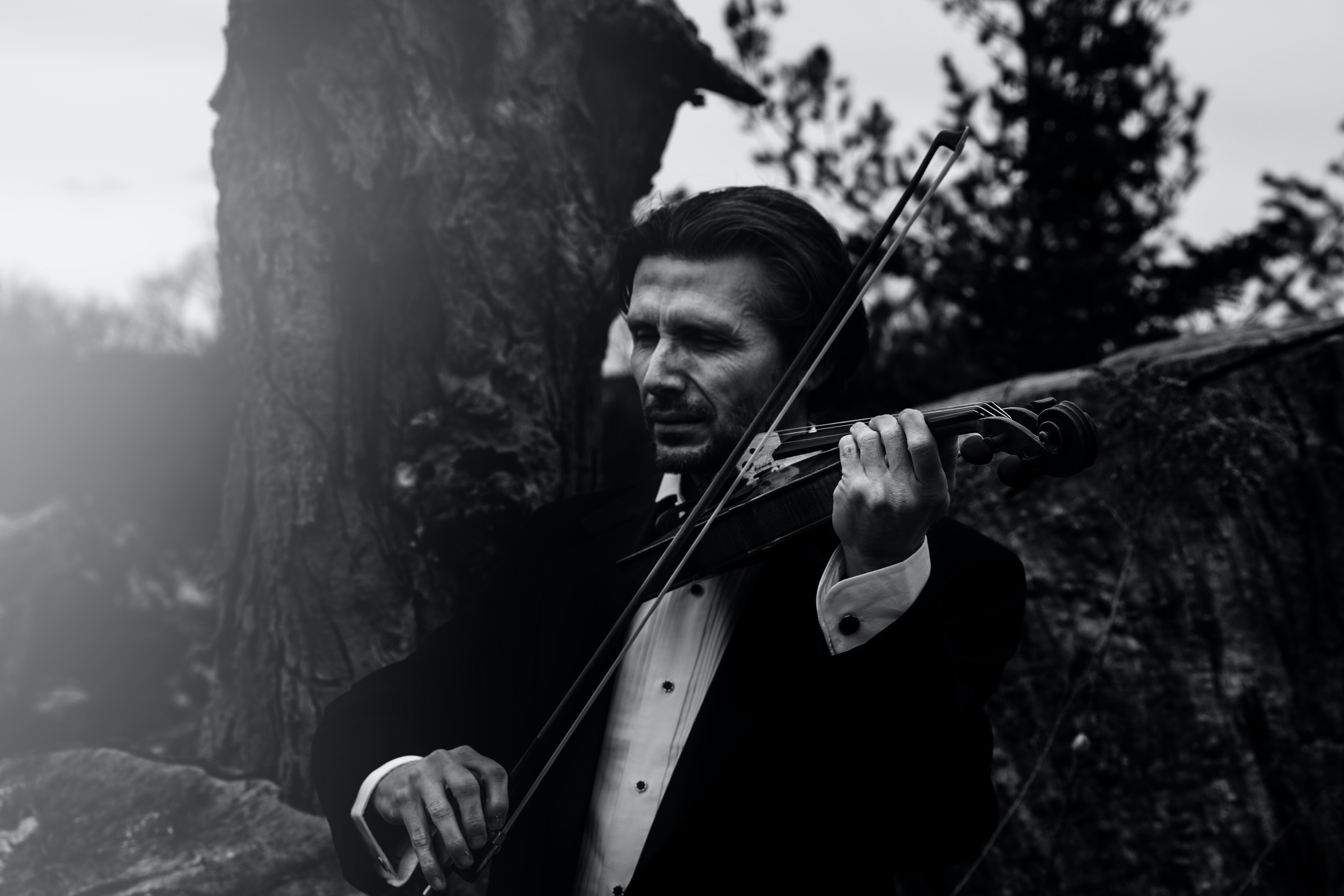 Kostnadsfri bild av artist, fiol, ha på sig, instrument