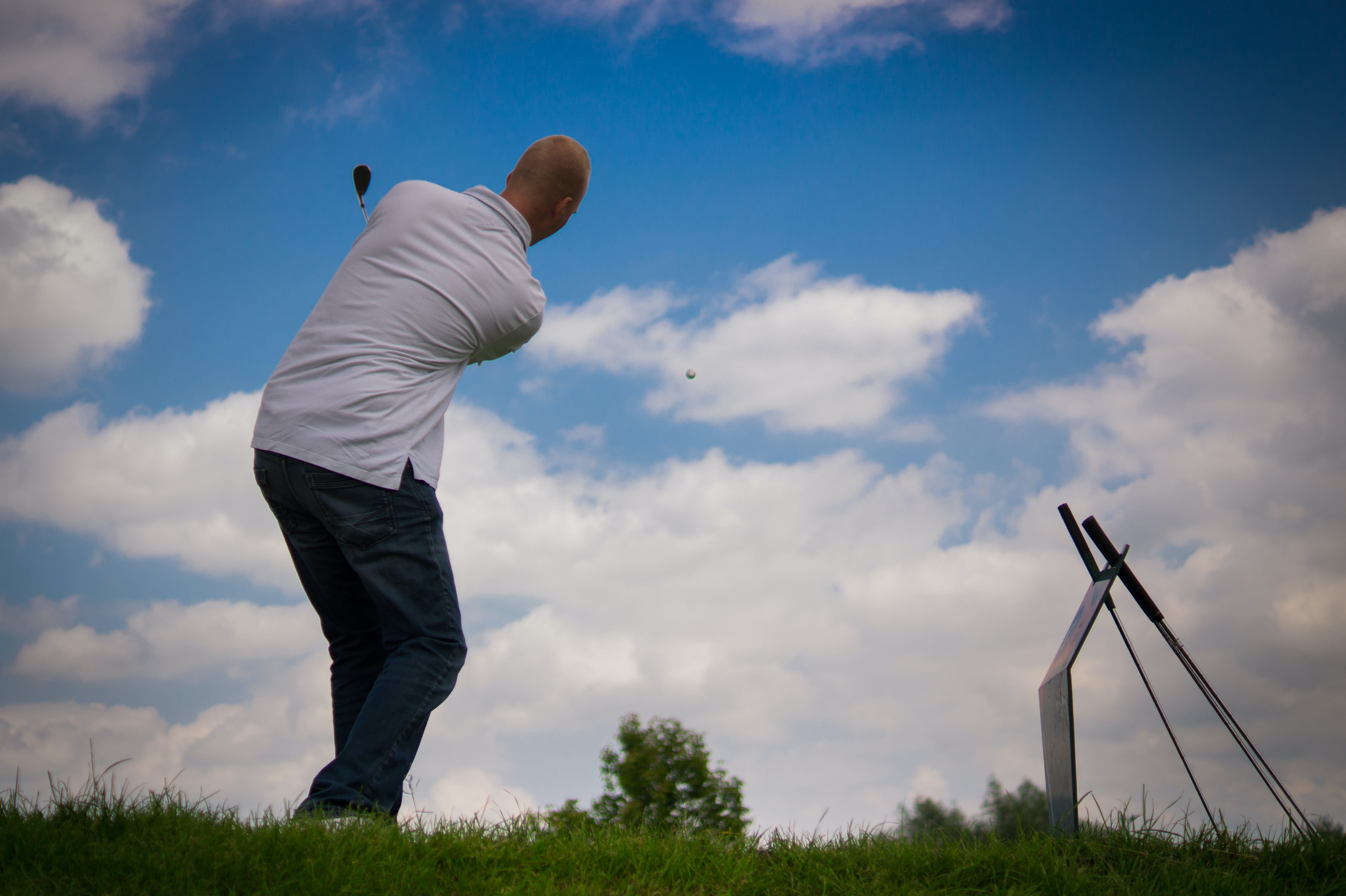 Man Striking Golf