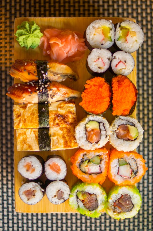 Sushi and Fried Fish