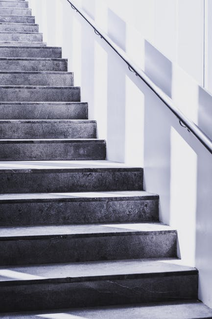 Stairs Grayscale Photography