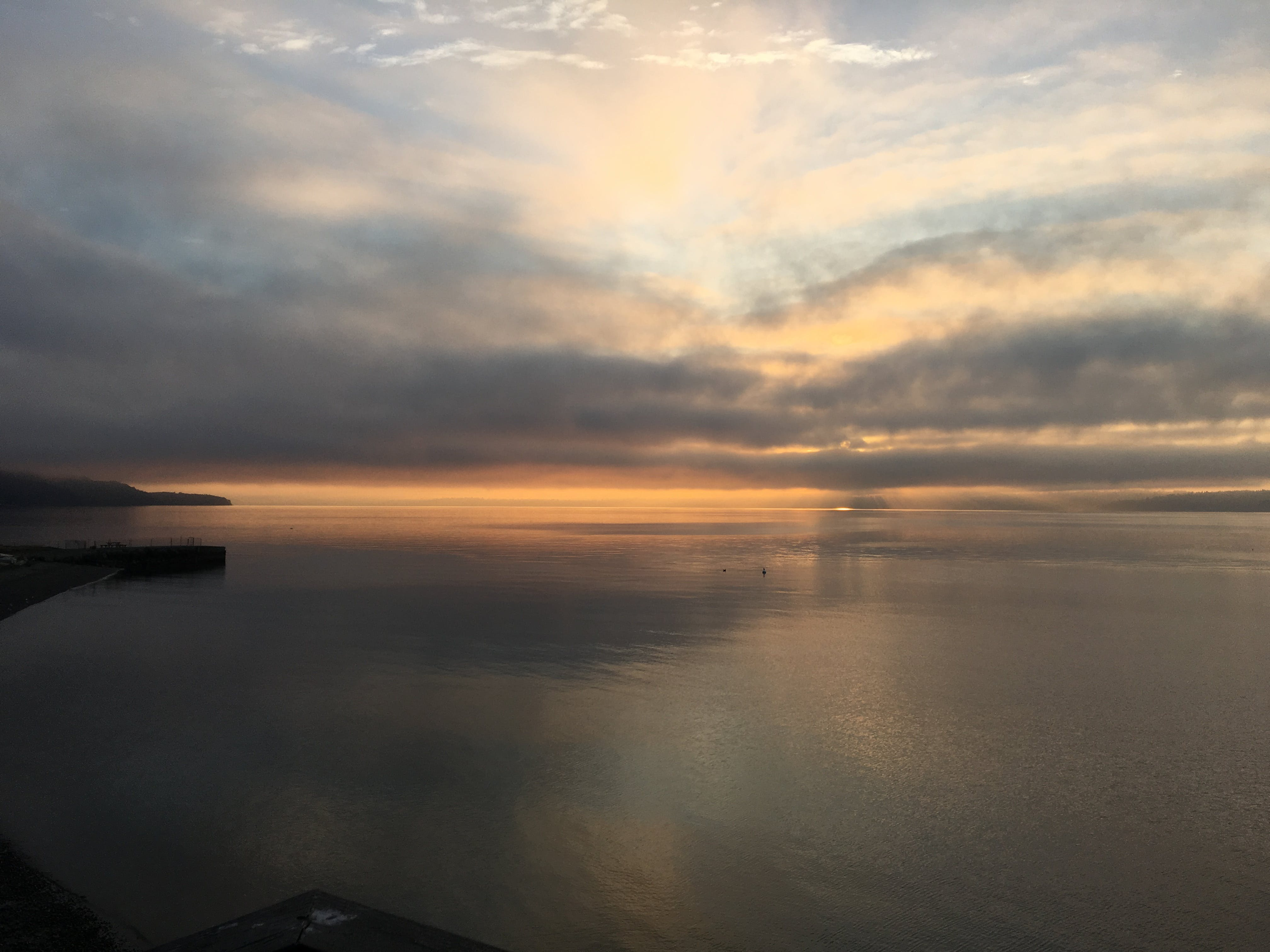 Free stock photo of clouds, ocean, overcast, puget sound