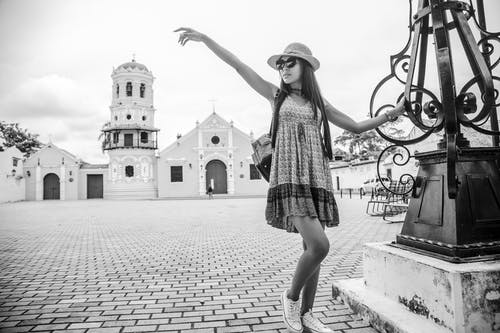 Free stock photo of black and white, black and white city, church