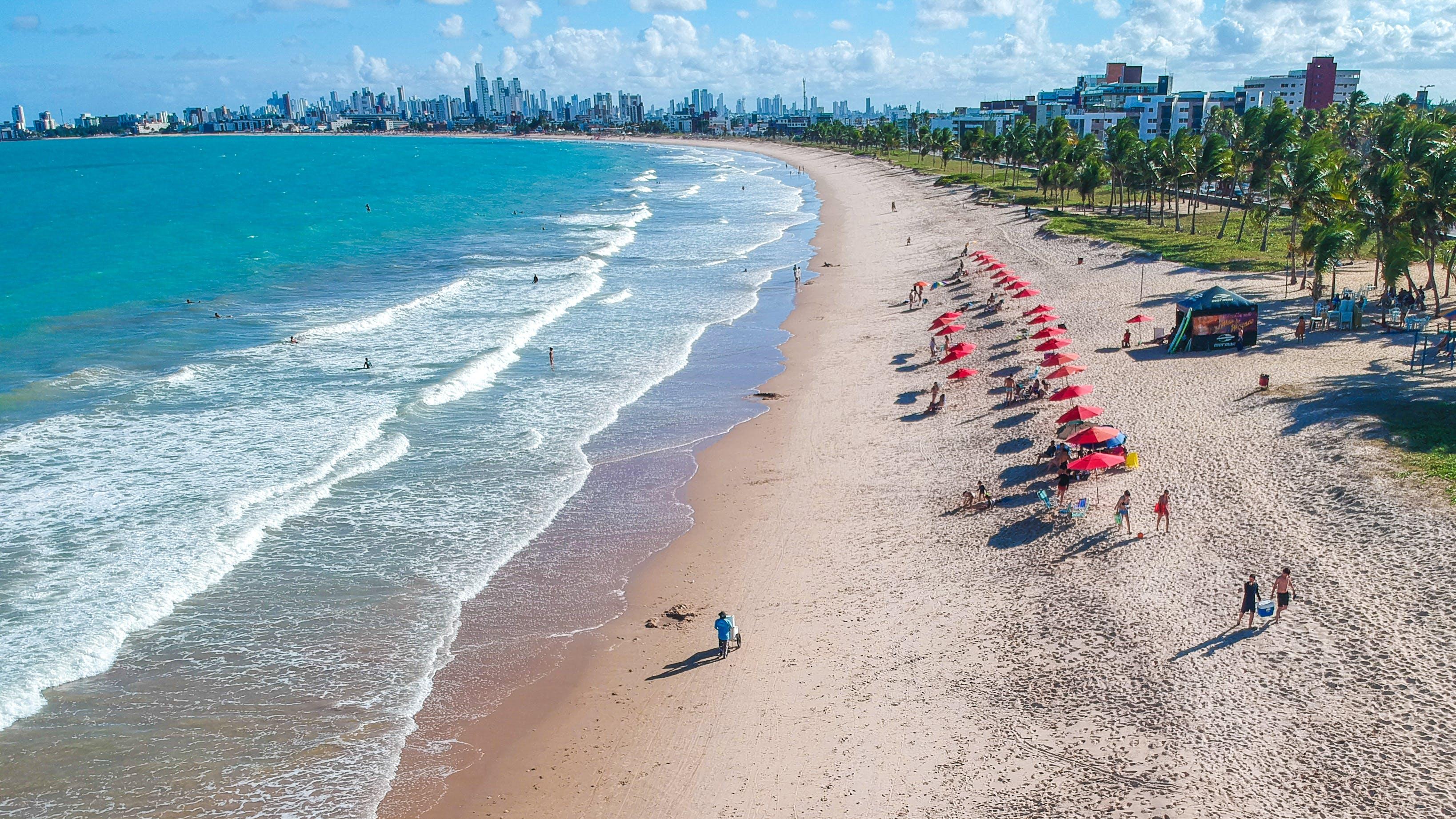 Imagine de stoc gratuită din agrement, apă, apus, Brazilia
