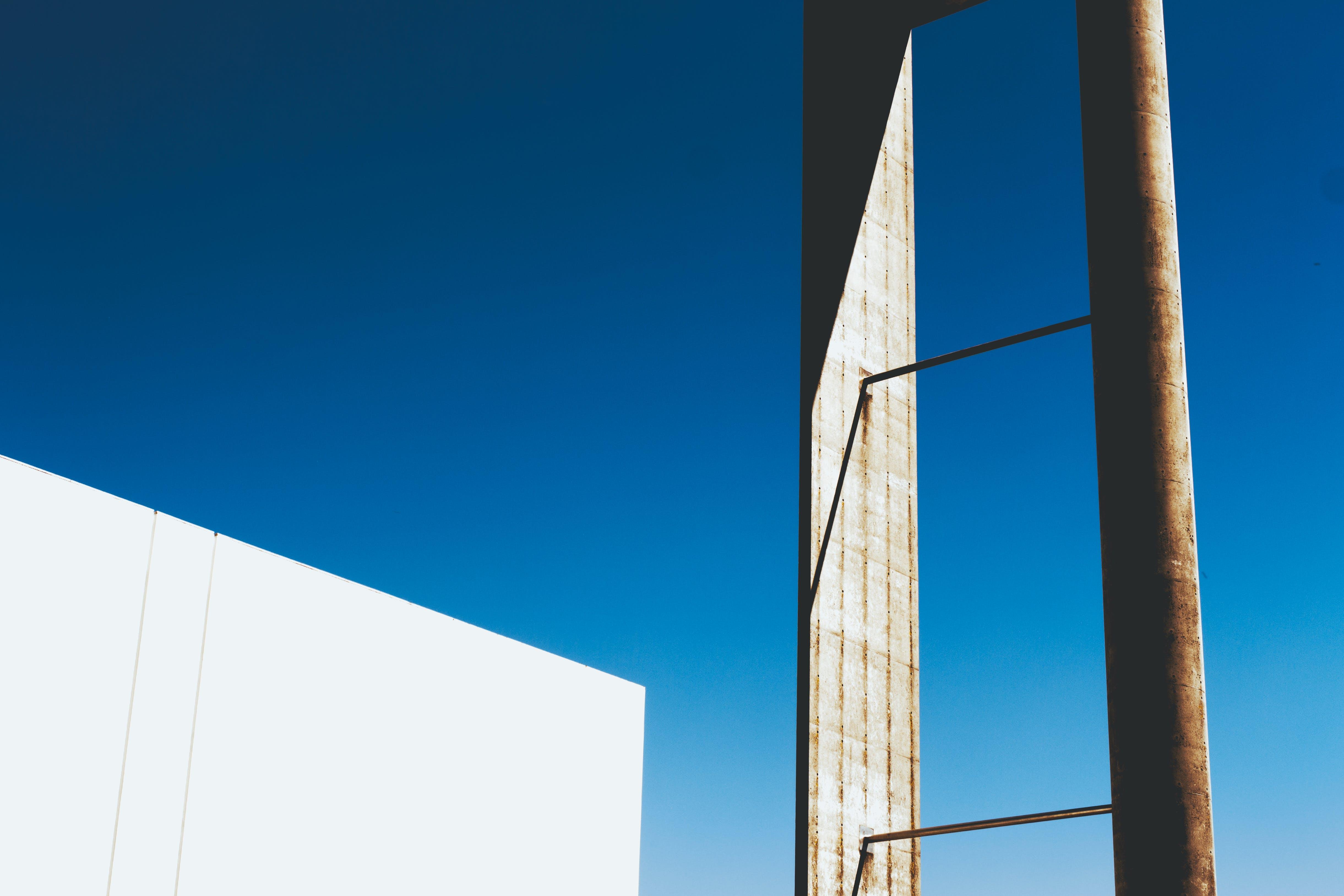 aço, ao ar livre, arquitetônico