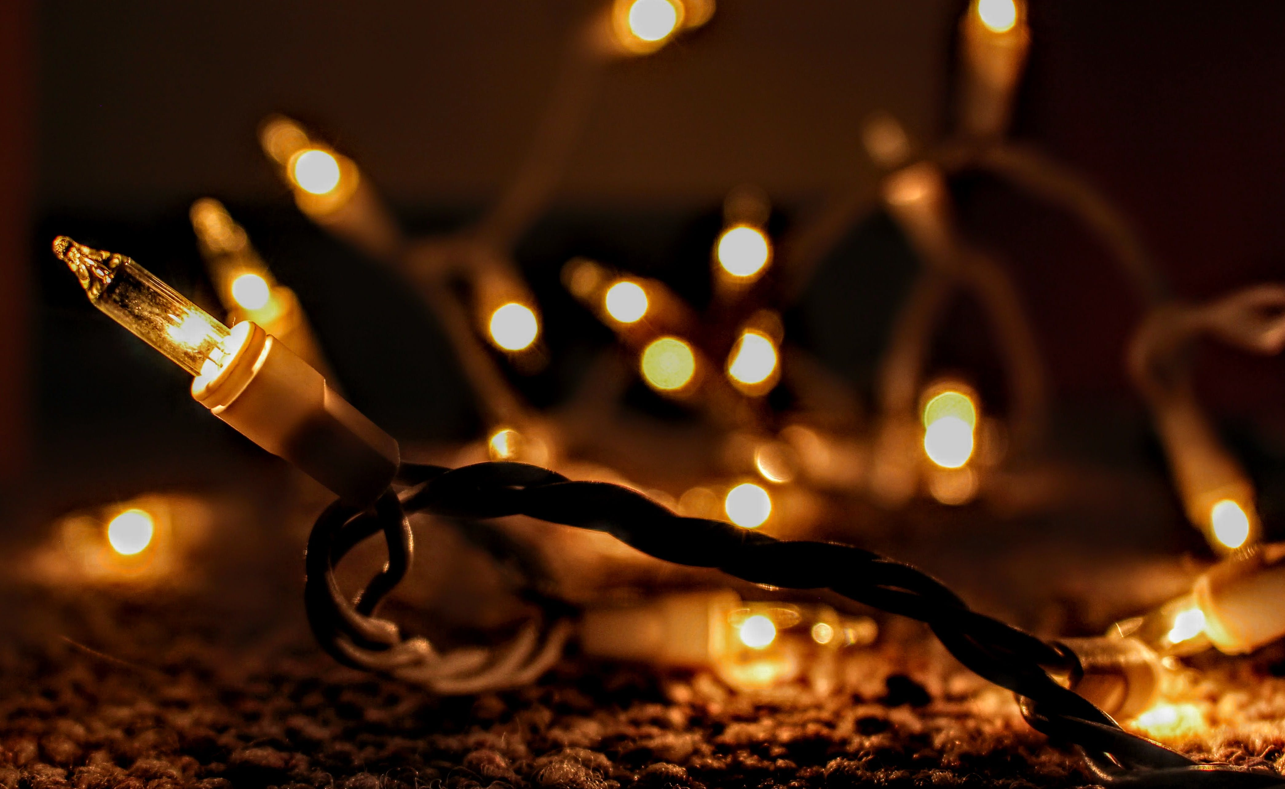 Yellow Lit String Lights