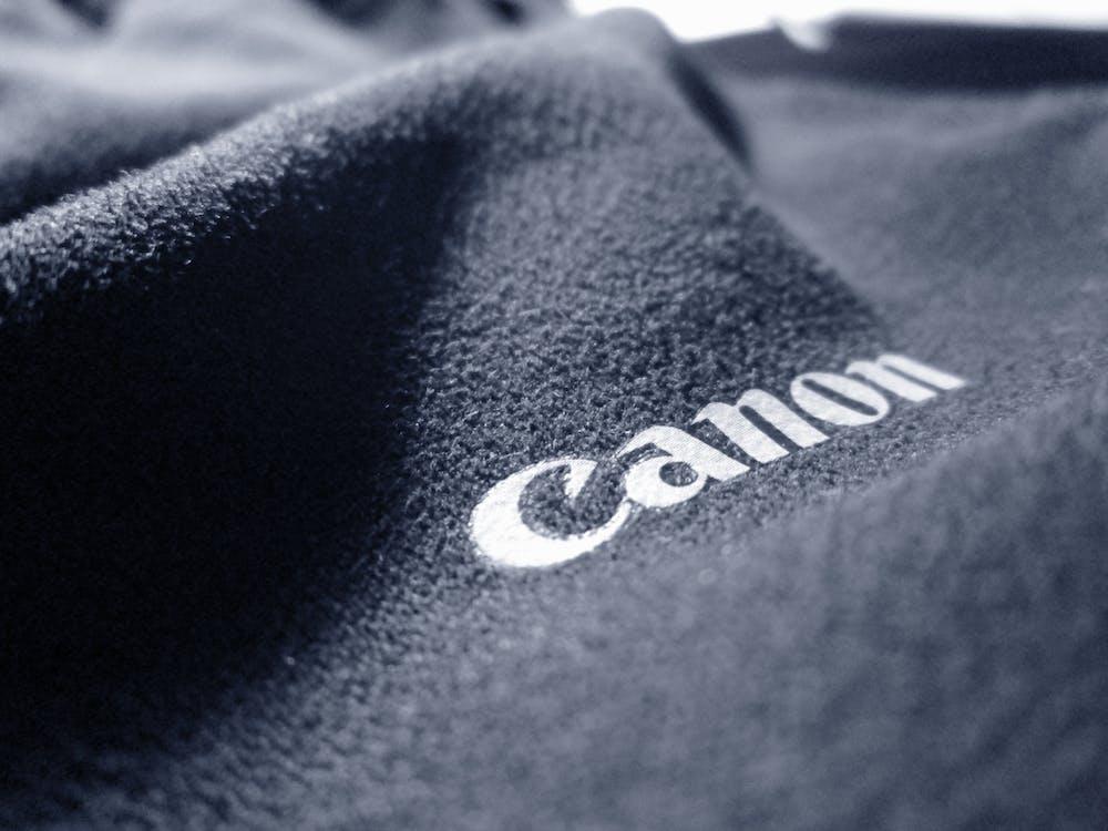 Gray Canon-printed Textile