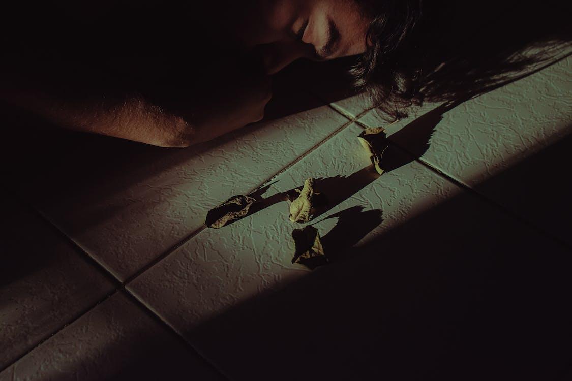 Acostado, adulto, depresión