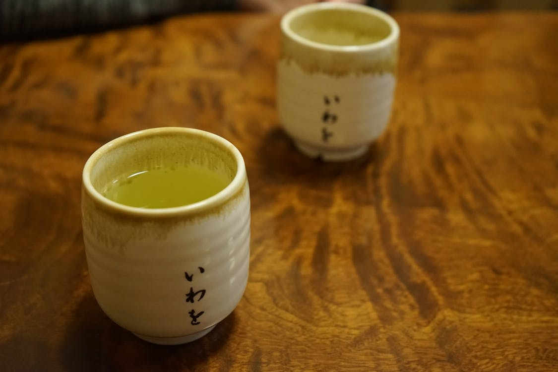 grönt te, japansk kultur, te