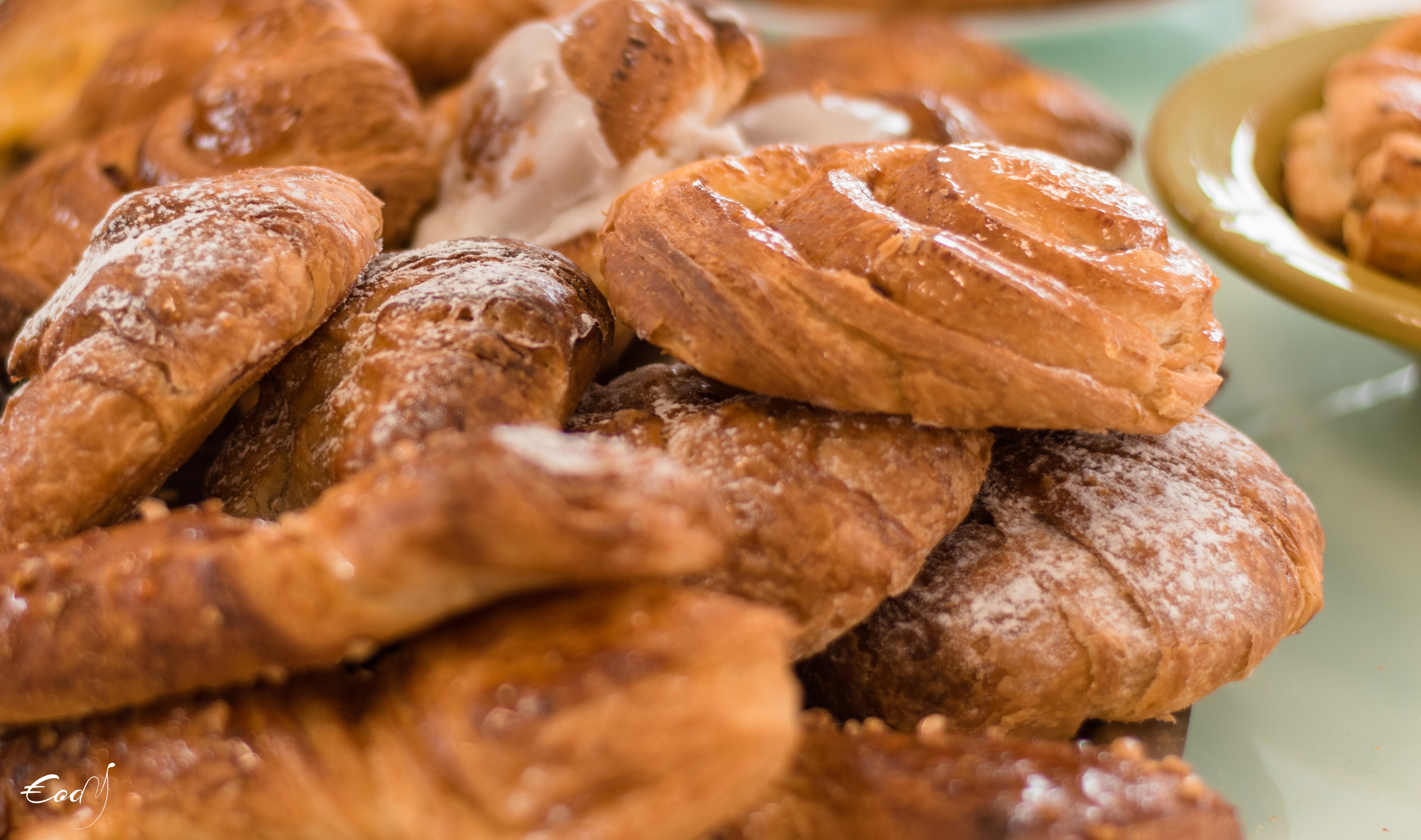 Free stock photo of breakfast, chocolate bread, croissant, food