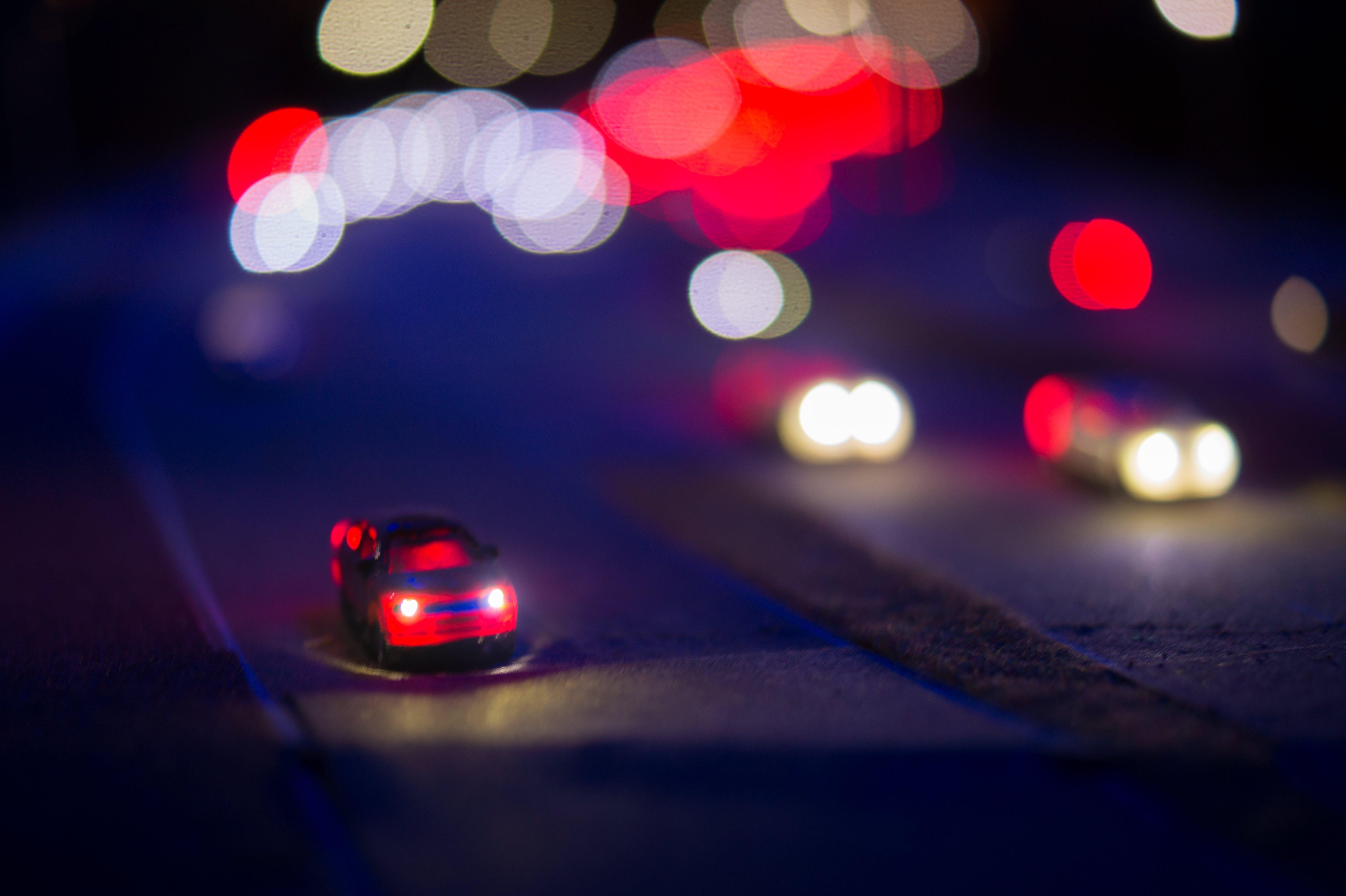 car, lights, miniature