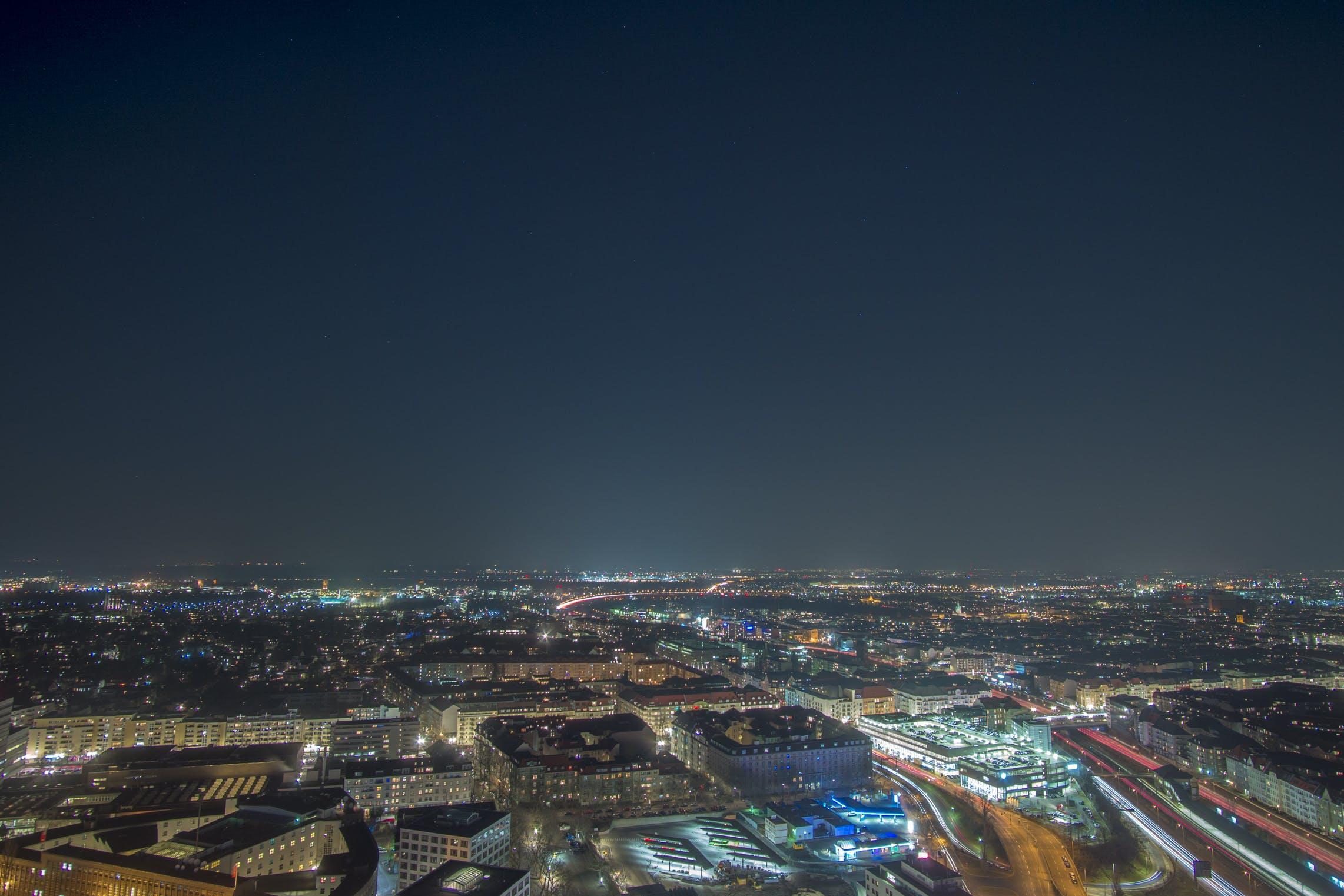 Free stock photo of berlin, blue, city, lights