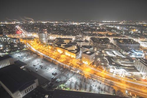 Fotobanka sbezplatnými fotkami na tému Berlín, dlhá expozícia, mesto, noc
