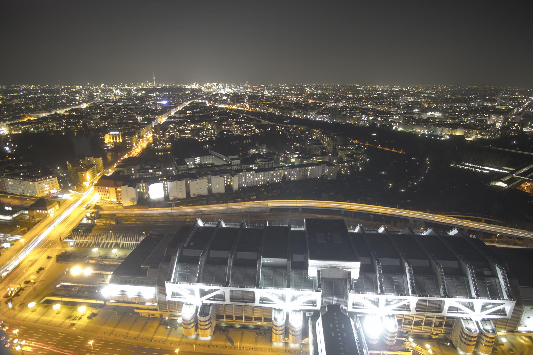Free stock photo of berlin, city, lights, long exposure
