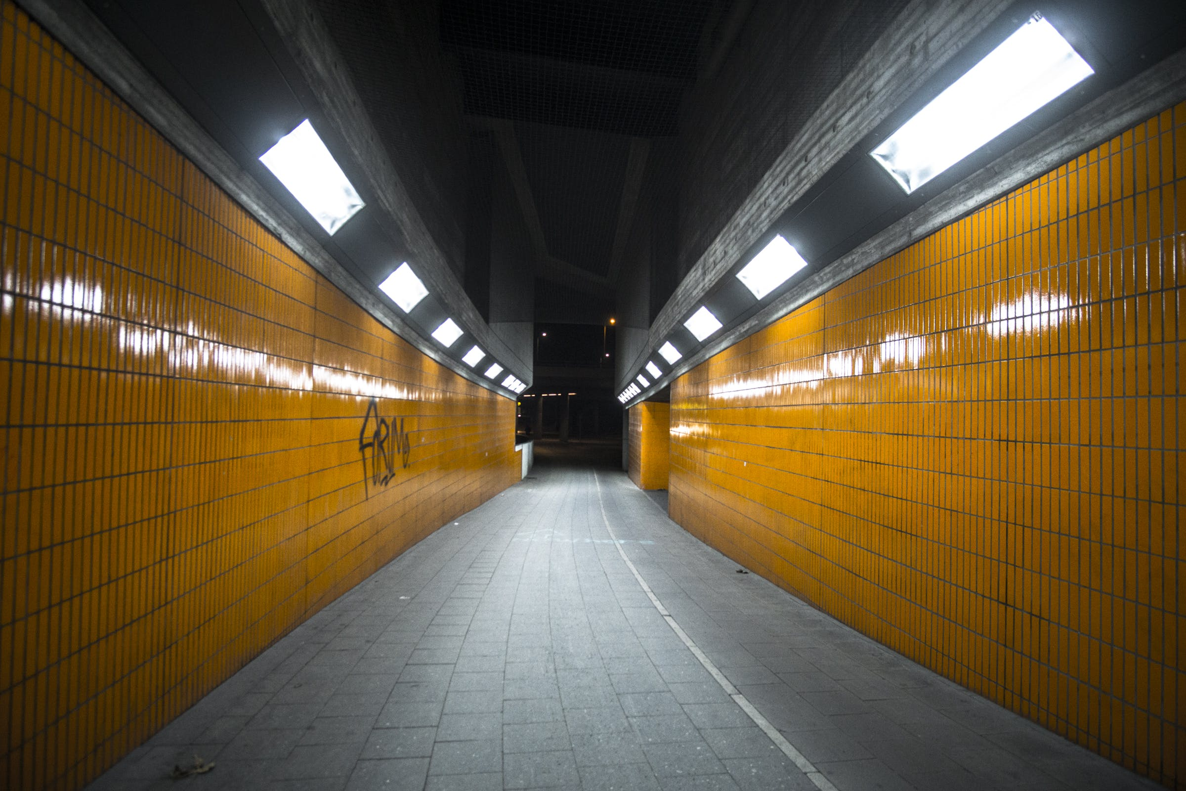 Free stock photo of berlin, lights, metro, orange