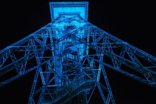 Fotobanka sbezplatnými fotkami na tému architektúra, Berlín, modrá, noc