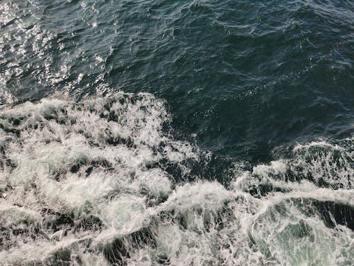 Splashing Waves on Body of Water