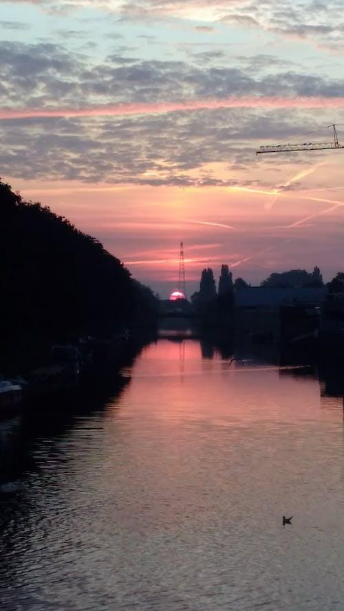 Gratis lagerfoto af skyer, solopgang