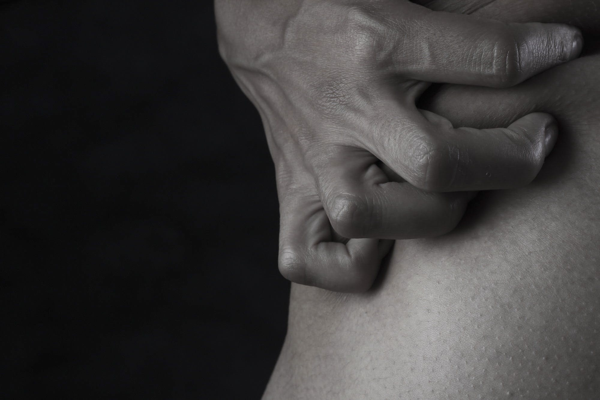 Person Holding Skin