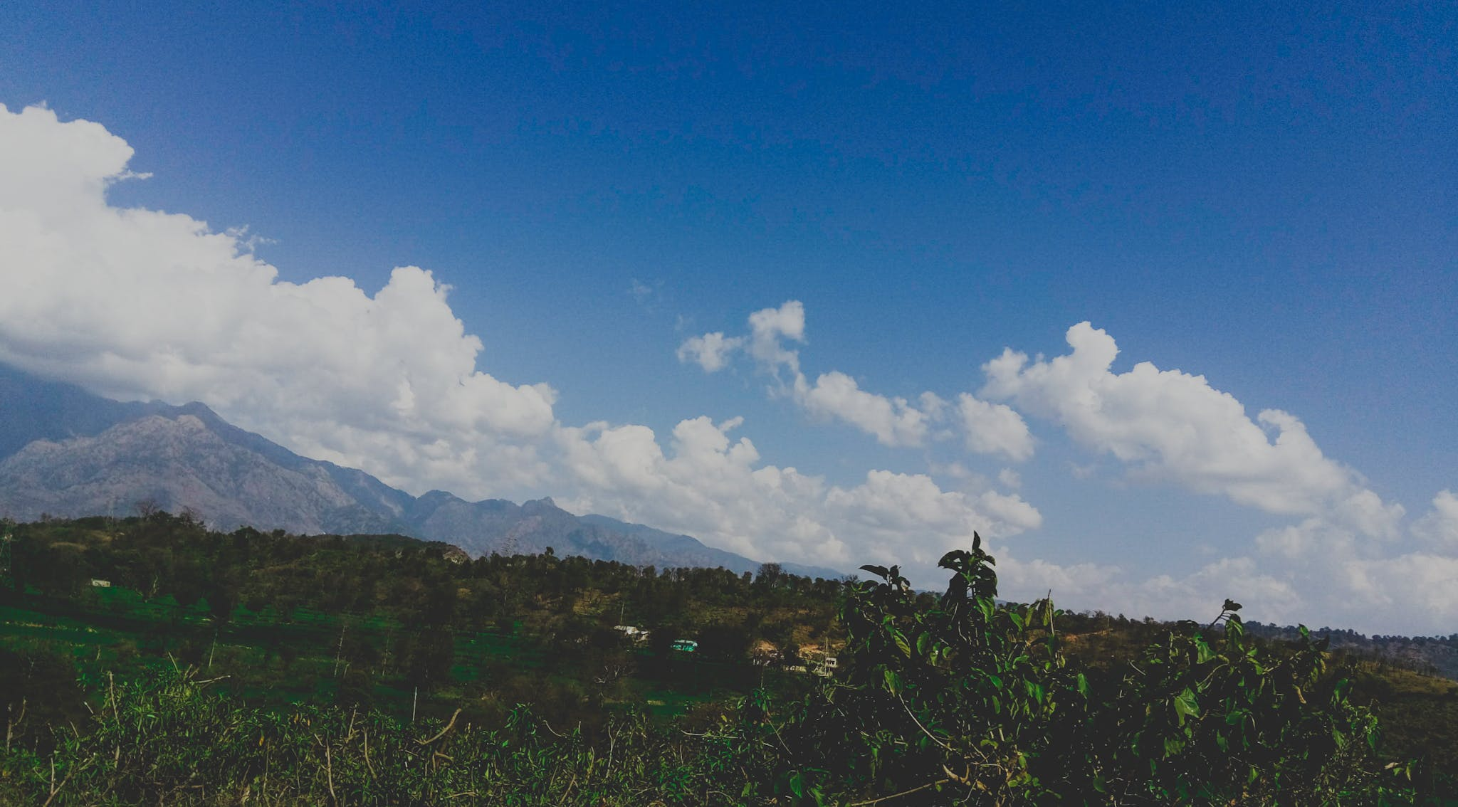 Free stock photo of blue, blue mountains, clouds, dark clouds