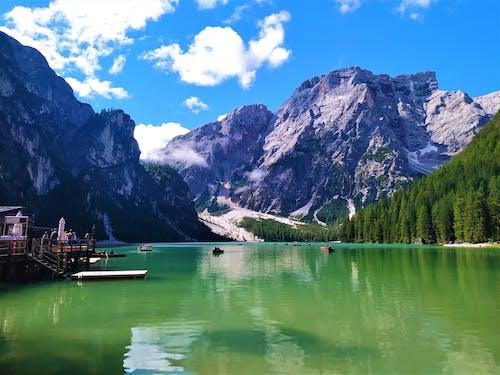 Green Lake Near Mountains