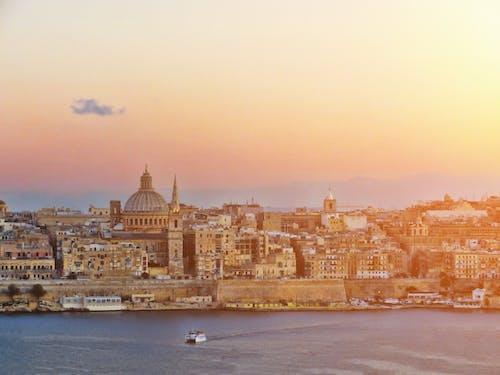 Gratis stockfoto met eiland middellandse zee, valletta, zonsondergang