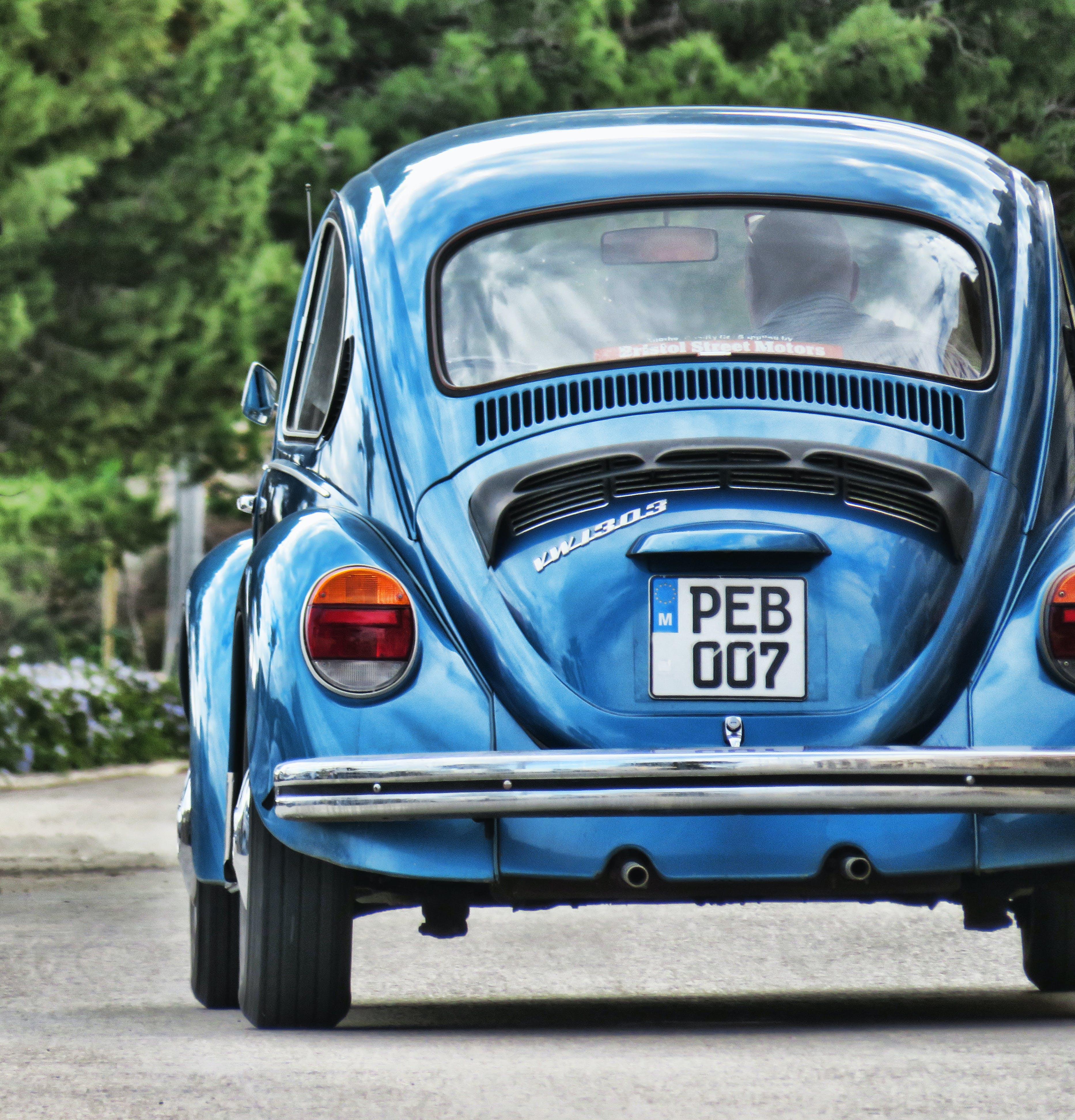 Kostnadsfri bild av bil, bil-, blå, chrome