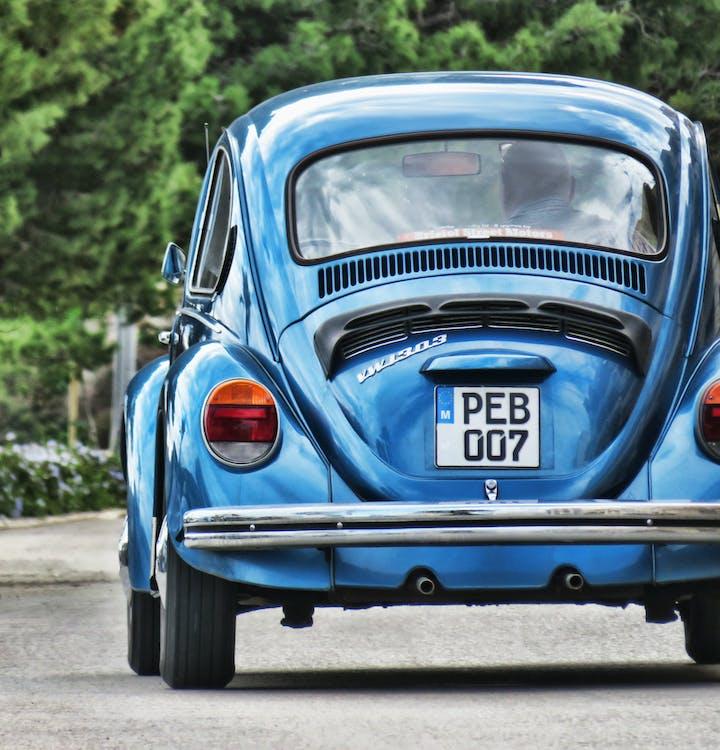 bil, bil-, blå
