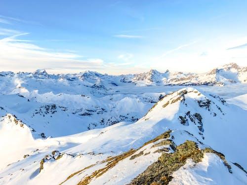 Foto Der Berge Im Winter