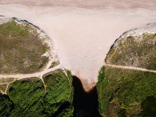 Бесплатное стоковое фото с вид сверху, гора, деревья, дороги