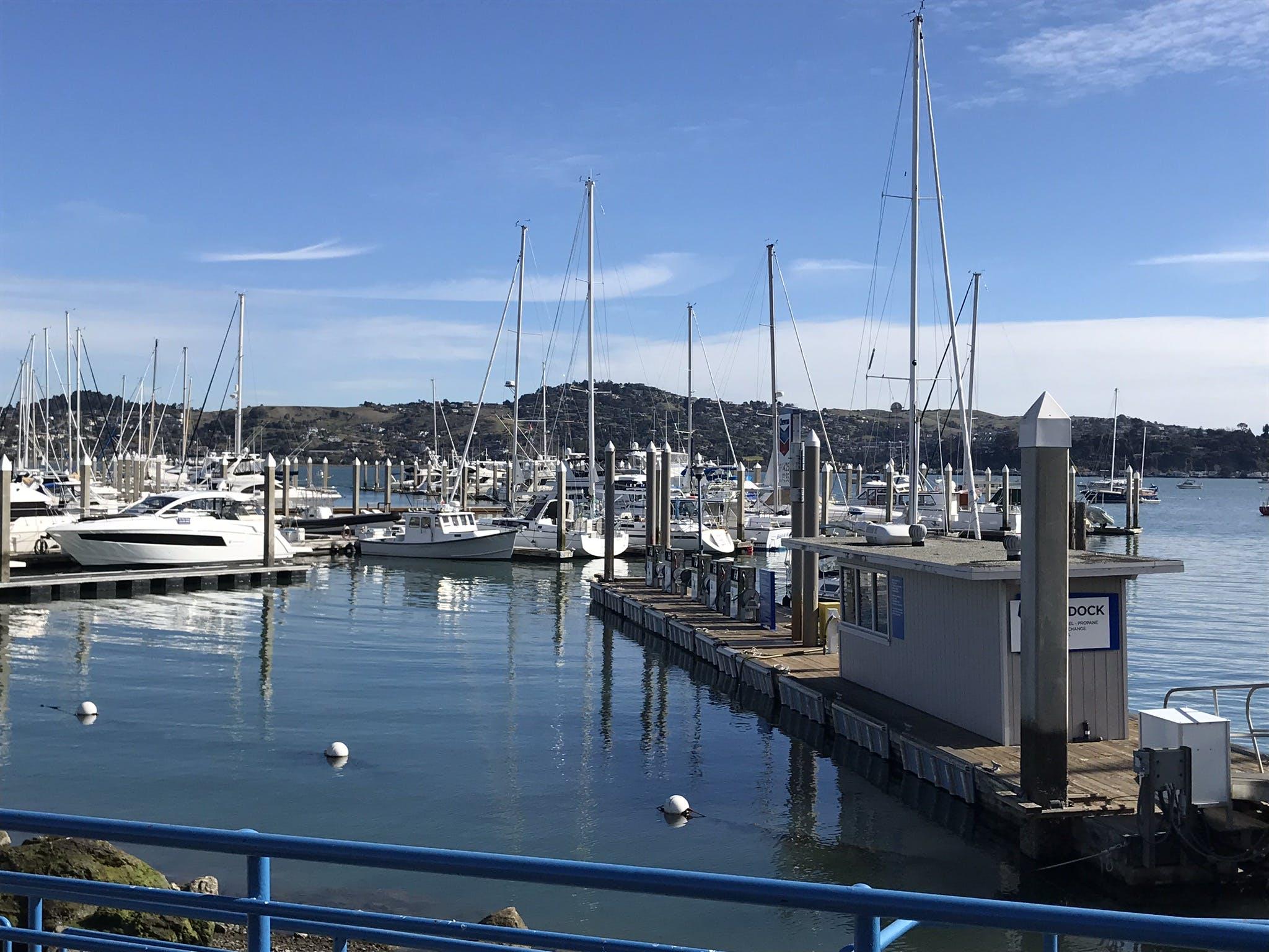 Yacht and Sail Boats Near Boardwalk