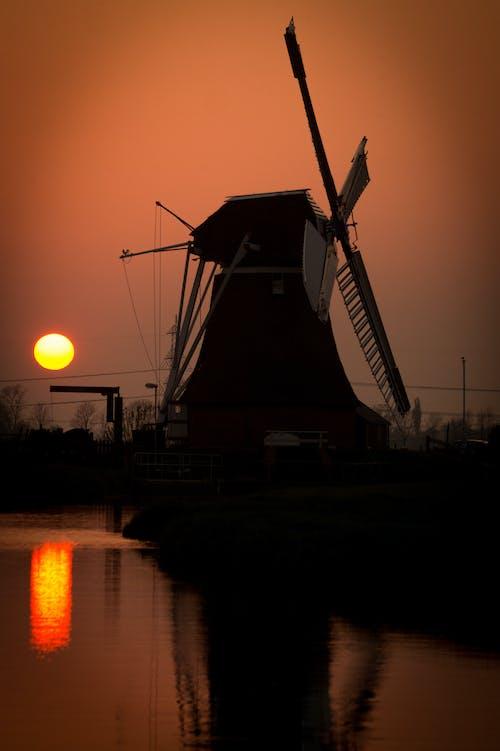 日出, 日落, 研磨, 荷蘭 的 免费素材照片