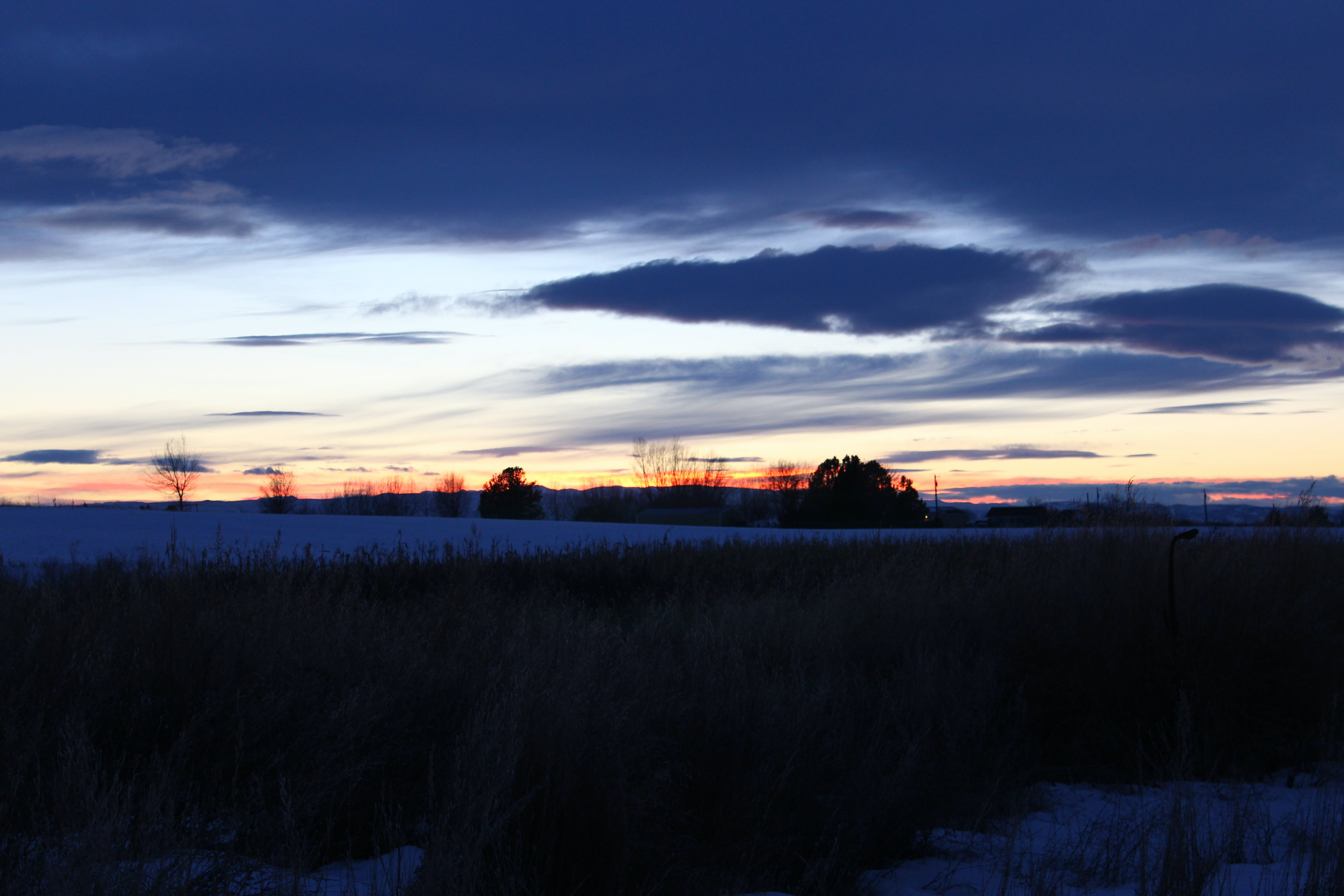 Free stock photo of country, sunset, winter