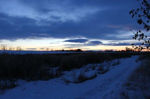 Kostnadsfri bild av Land, solnedgång, vinter