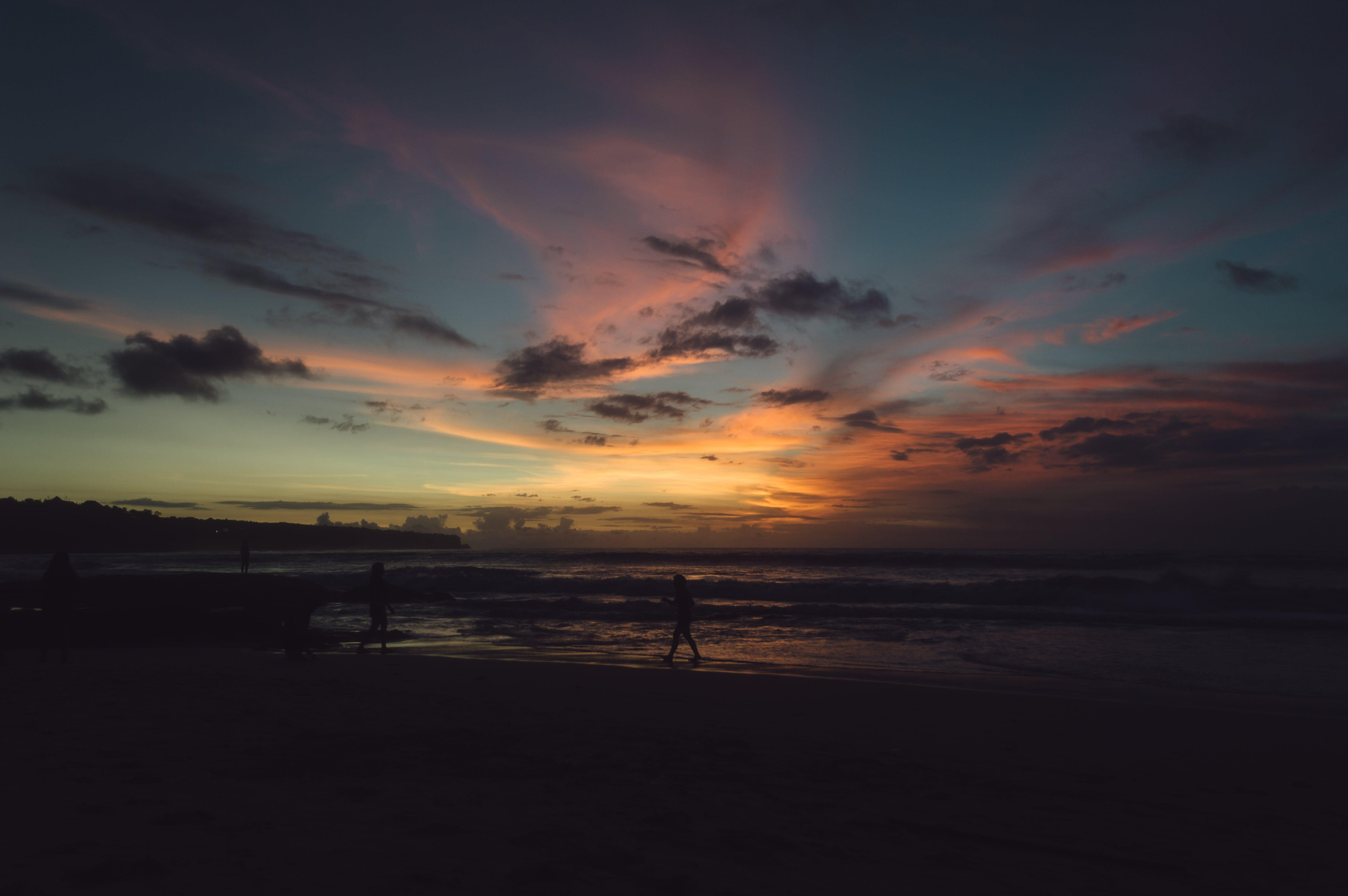 Free stock photo of beachlife, clouds, dark blue, dark clouds